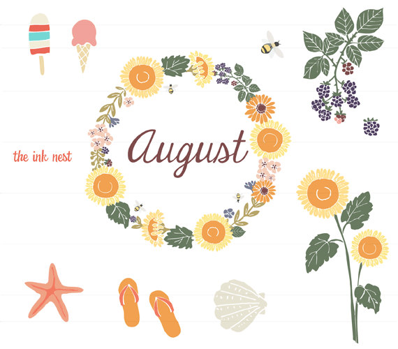 Gallery clipart august flower August Free image free Clip