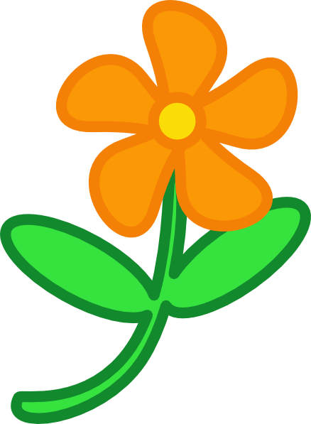 Yellow Flower clipart pretty flower Clip clipartbold clipart Flowers clipart