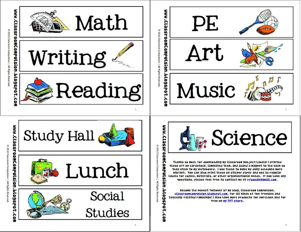Gallery clipart school subject Clipart yafunyafun school pictures subjects