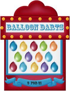 Game clipart balloon dart Png string ~*♦️Scrapebook~Random dart game