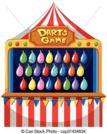 Game clipart balloon dart On balloons the csp31434634 balloons