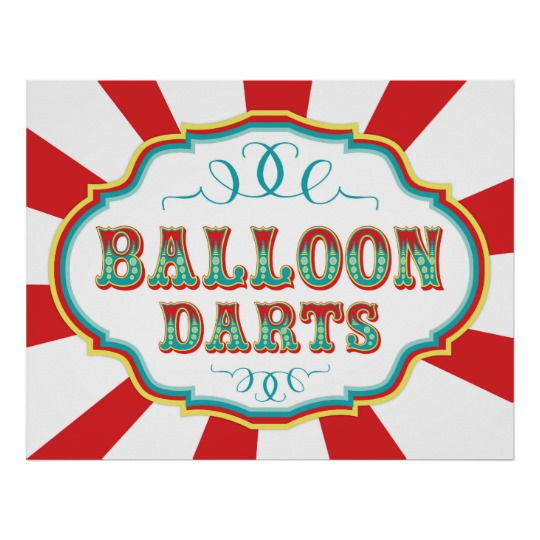 Game clipart balloon dart Balloon Carnival Sign Game Sign