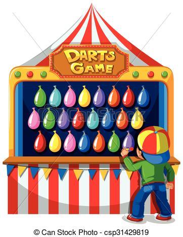 Carneval clipart logo At carnival csp31429819  darts