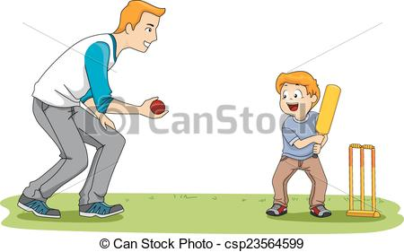 Game clipart cricket Illustration Cricket  csp23564599 a