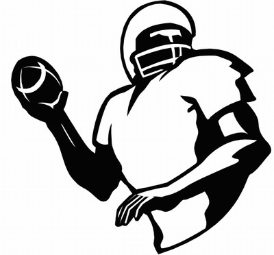 Football clipart football pass Of Nfl Clip Player Free