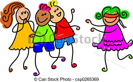 Party clipart party game  art buff playing children