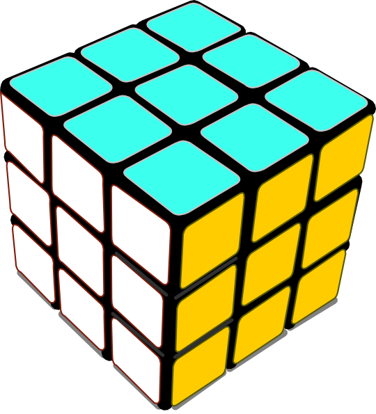 Cube clipart rubik's cube This as: Art com Rubiks