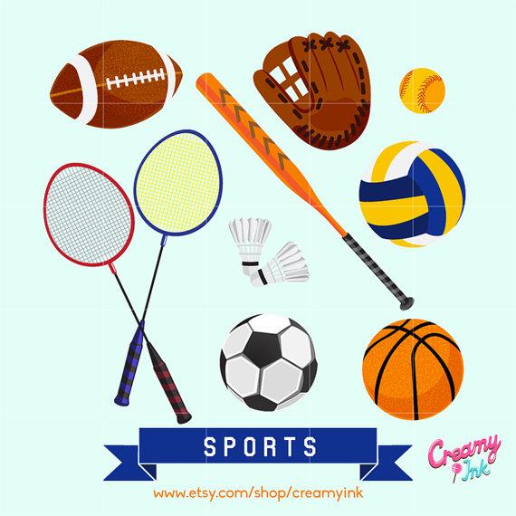 Game clipart sport Design Vector Clipart Il_570xn Digital