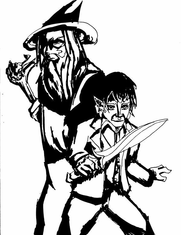 Bilbo Baggins clipart gandalf Grey Gandalf nickworcester by on