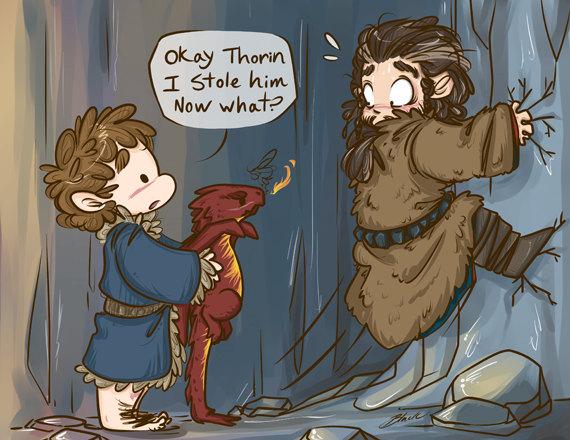 Bilbo Baggins clipart chibi Print Thorin Baggins Hobbit The