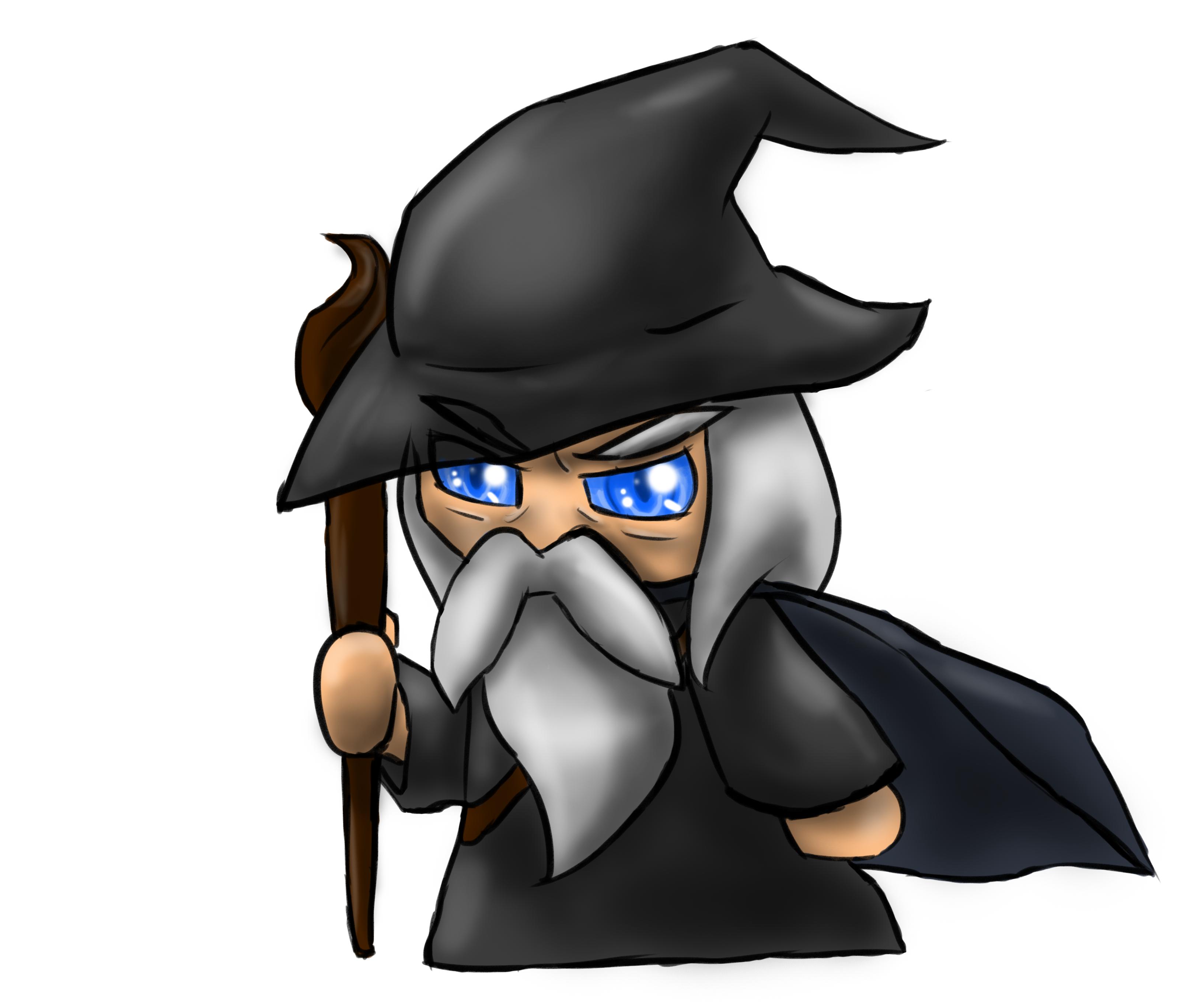 Gandalf clipart cartoon Chibi by DarkStarling716 on Chibi