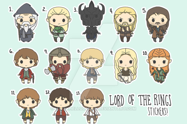 Gandalf clipart chibi By on Lord HappyHelloDesign Lord
