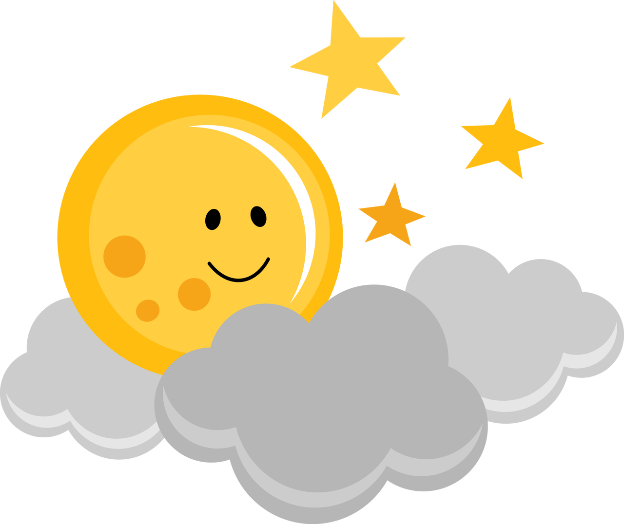 Clouds clipart cute cartoon Cut sun $0 svg Cute