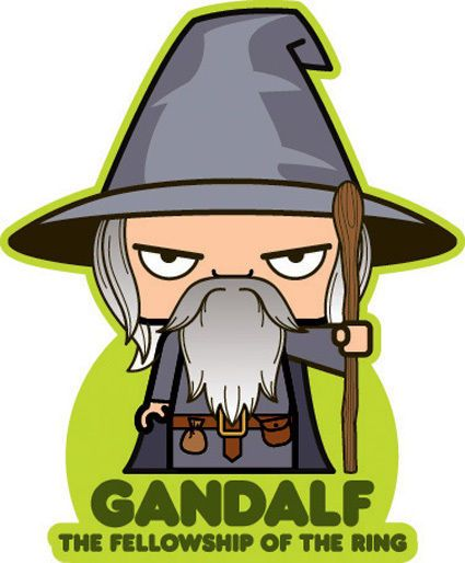 Gandalf clipart cute THE OF 408 RINGS on