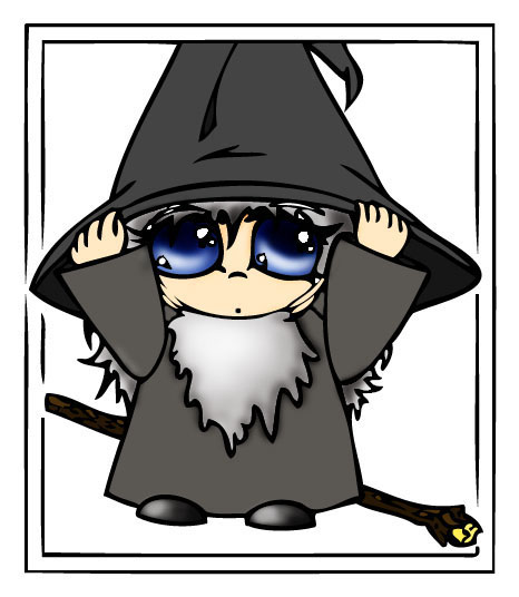 Gandalf clipart cute By JenChan Chibi Gandalf Gandalf