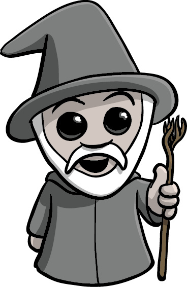 Gandalf clipart cute 'kay? You shall not Gandalf