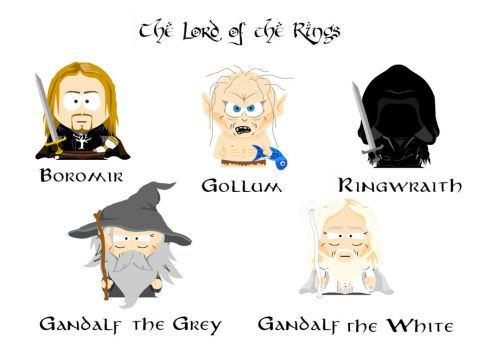 Gandalf clipart gollum Explore South the The by