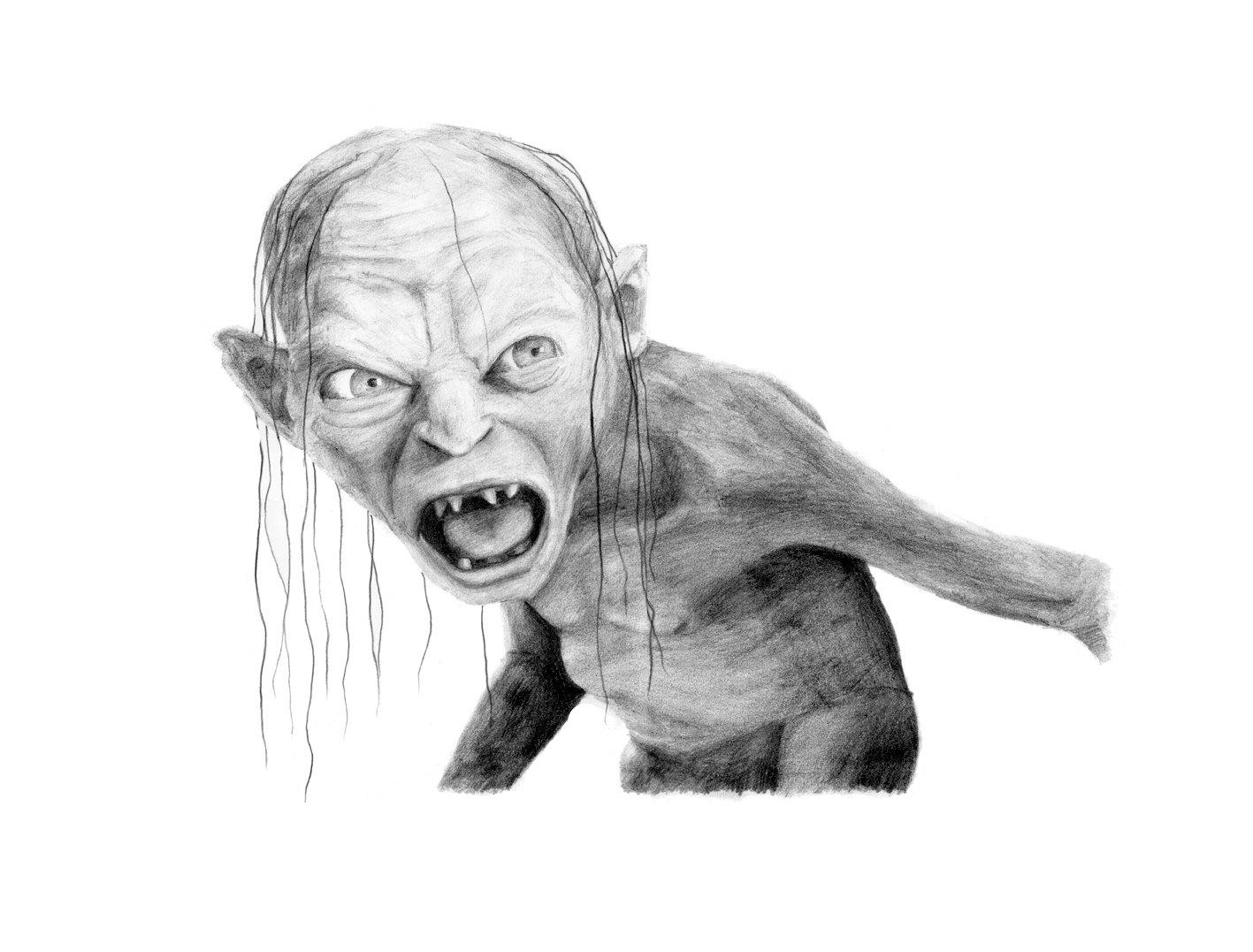 Gandalf clipart gollum GOLLUM  drawing pencil