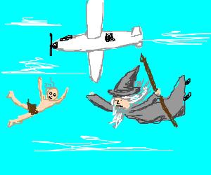 Gandalf clipart gollum Parachutes! skydiving n  fools