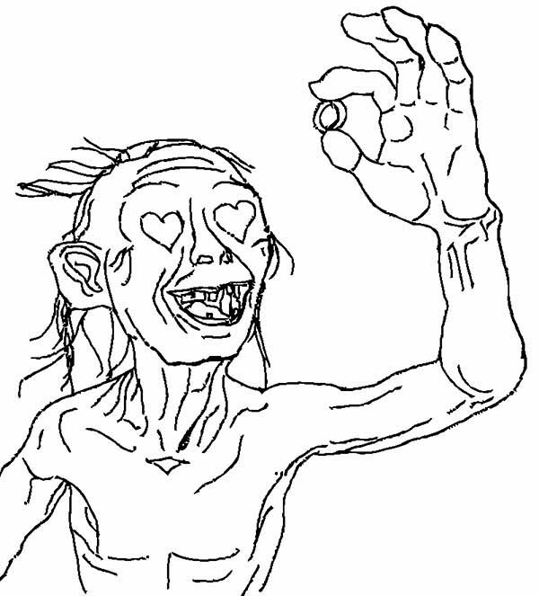 Hobbit clipart coloring page The Lord in Rings Coloring