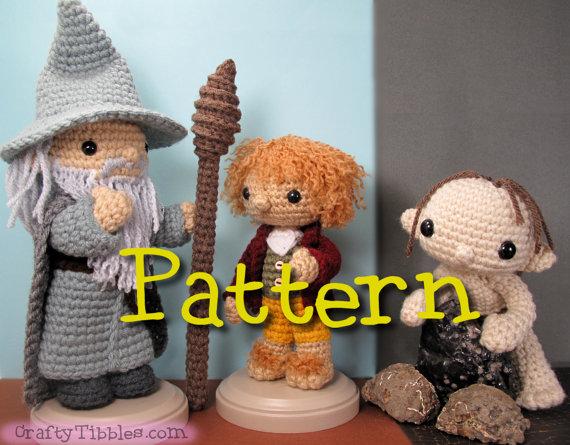 Gandalf clipart gollum Pattern Crochet Bilbo Gollum Pattern