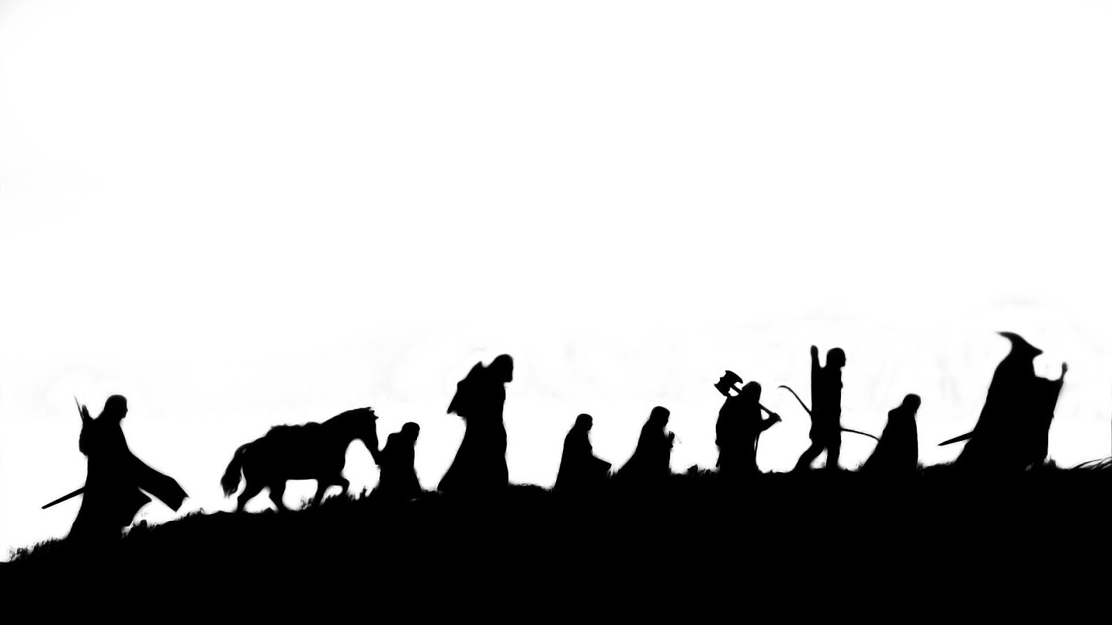 Lord Of The Rings clipart black and white #2