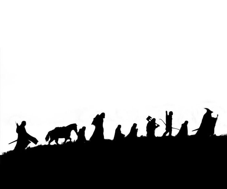 Lord Of The Rings clipart silhouette #1