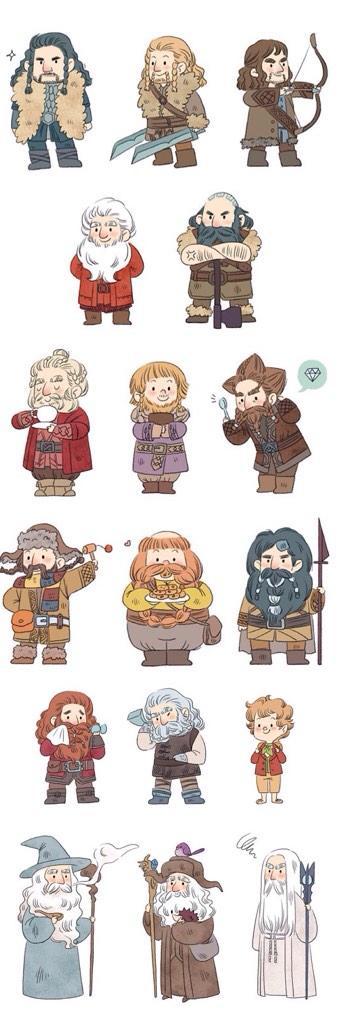 Drawn dwarf the hobbit character Fili Dwalin The Fili Dori