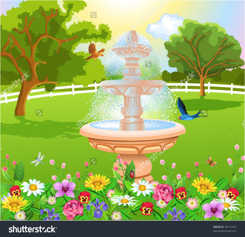Garden clipart beautiful garden #6