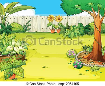 Garden clipart beautiful garden #7