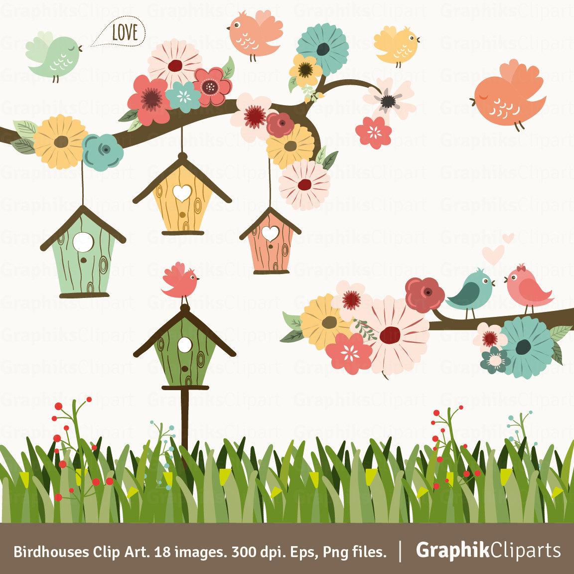 Garden clipart bird #14