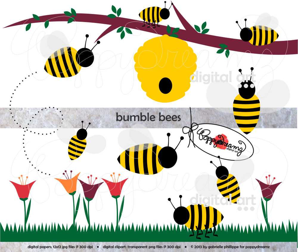 Tulip clipart bumble bee #12