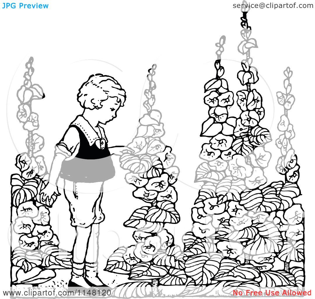 Garden clipart drawing Designs Ideas Flower Design Designs