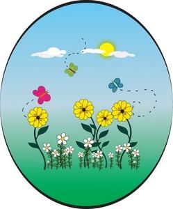 Garden clipart flower cartoon #8
