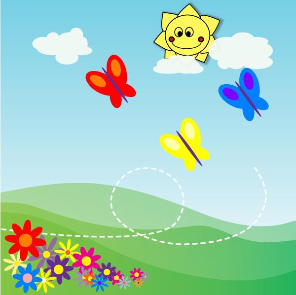 Garden clipart flower cartoon #4