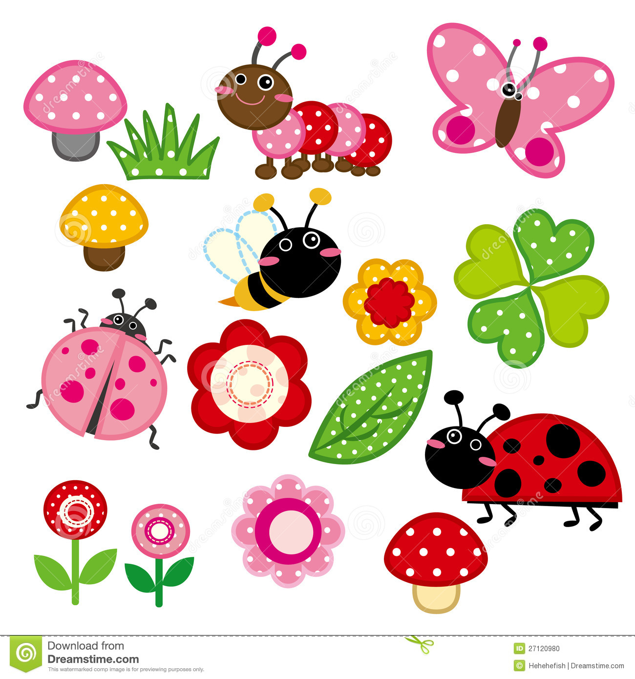 Mushroom clipart insect 27120980 Photo Cute Garden Image: