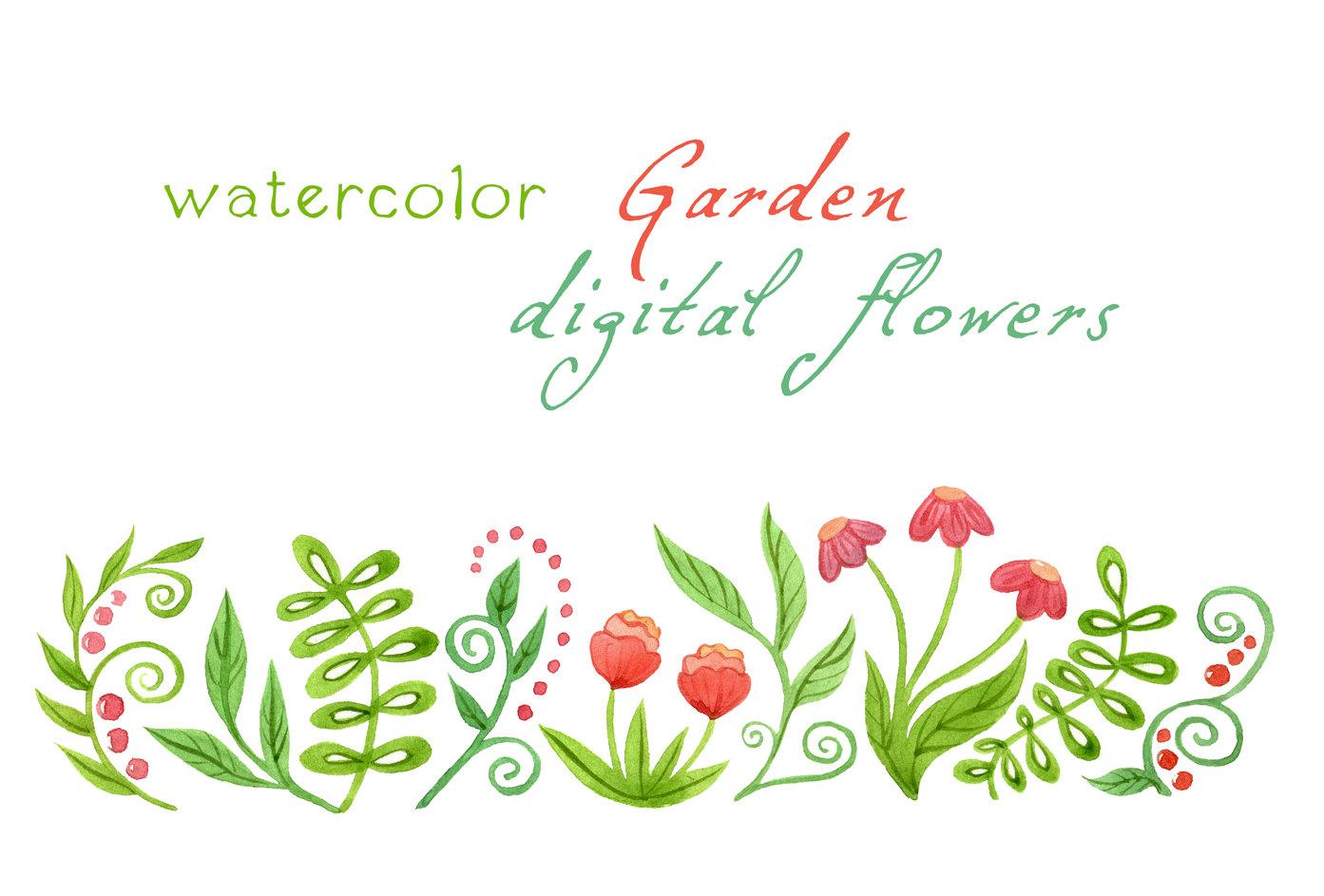 Garden clipart garden border #13
