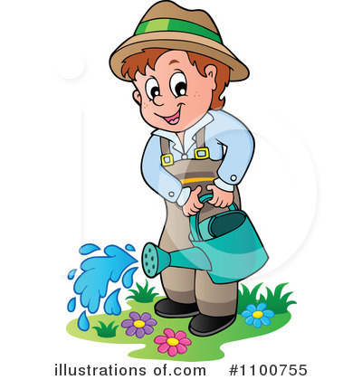 Boy clipart gardening #1100755 visekart Clipart Illustration visekart
