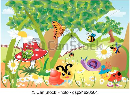 Bugs clipart garden insect Vector Insects illustration (26+) Garden