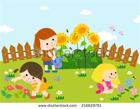 Garden clipart school garden #4