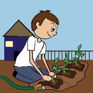 Boy clipart gardening Planting Art Clipart  Download
