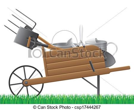 Garden clipart wheelbarrow Wooden wheelbarrow  Wheelbarrow tool