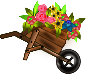 Garden clipart wheelbarrow Wheelbarrow Wheelbarrow Flower  Art