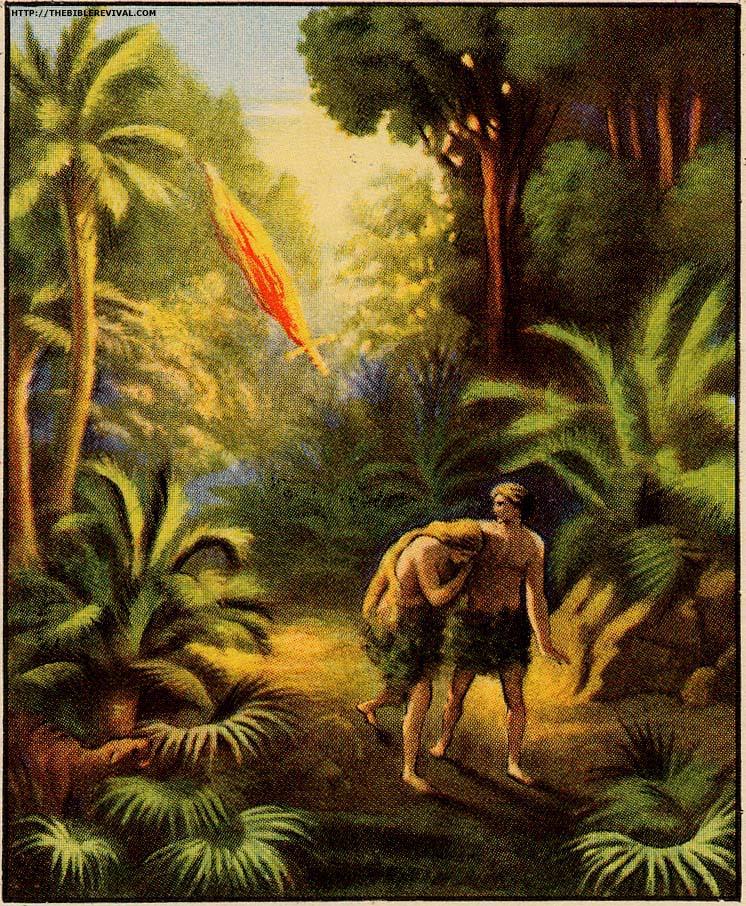 Garden Of Eden clipart bible Alone Adam out the 252KB