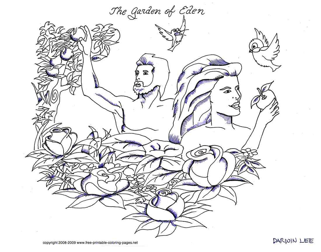 Garden Of Eden clipart bible Coloring Kids Photo KcAR bible