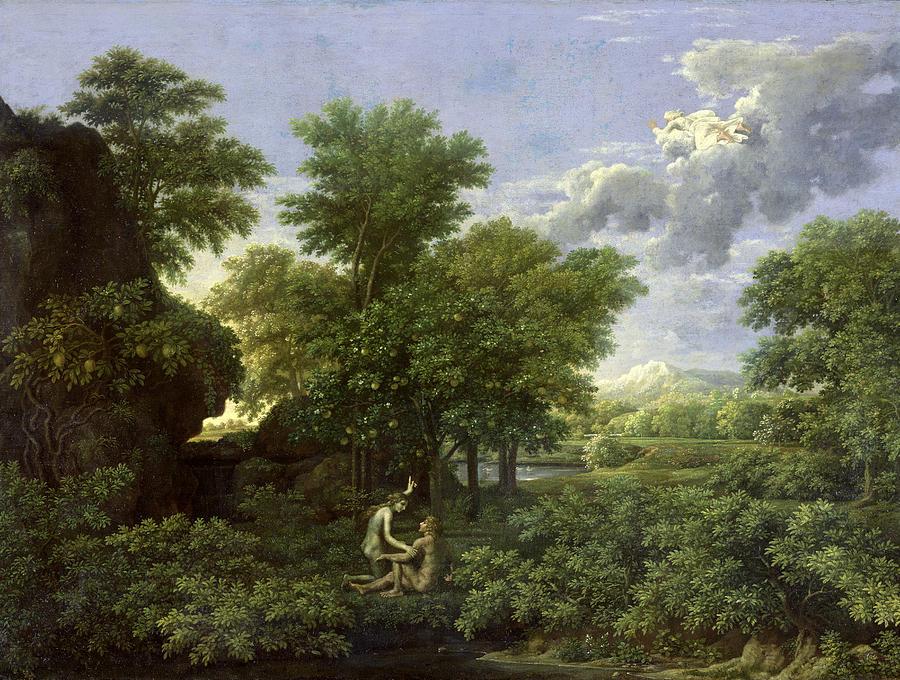 The Garden Louvre Garden poussin