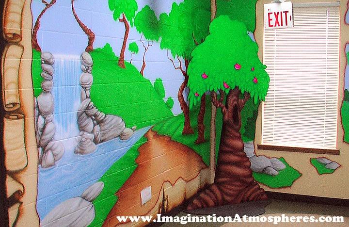 Garden Of Eden clipart down stair And Garden Garden murals wall