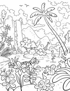 Garden Of Eden clipart god created the world Coloring  #ldsprimary The page