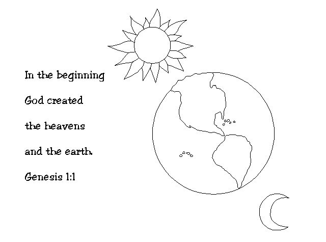 Garden Of Eden clipart god created the world Coloring 25+ pages on ideas