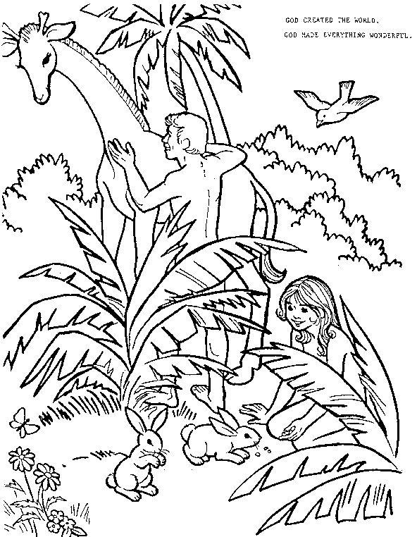 Garden Of Eden clipart god created the world Pinterest Bible images Adam Eve